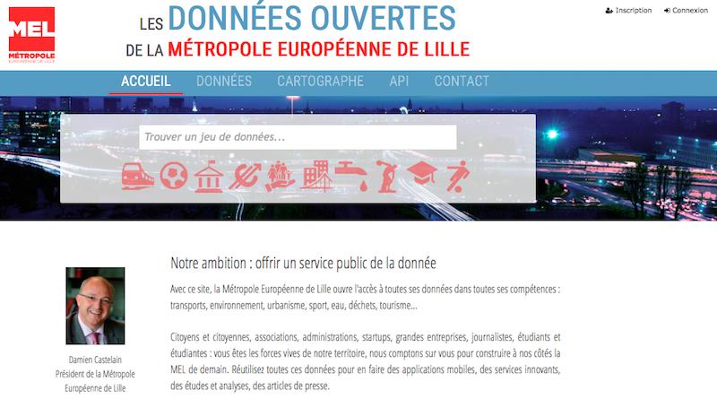 La Métropole Européenne de Lille rejoint l'open data.