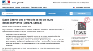 Répertoire SIRENE de l'INSEE : les données sur 10 millions d'établissements maintenant disponibles en open data