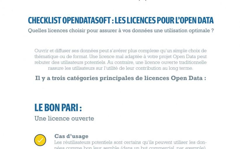 Licences Open Data : la Checklist pour Tout Comprendre